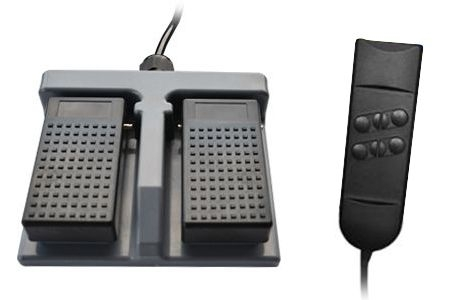 Foot remote control (height adjustment), hand remote control (backrest adjustment) (EUR 42,50)