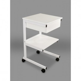 Aluminum cart: II shelves + drawer