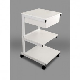 Aluminum cart: III shelves + drawer