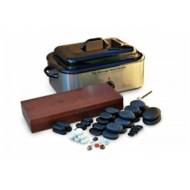 Hot stone massage set JUVENTAS - 64 stones + heater 18l